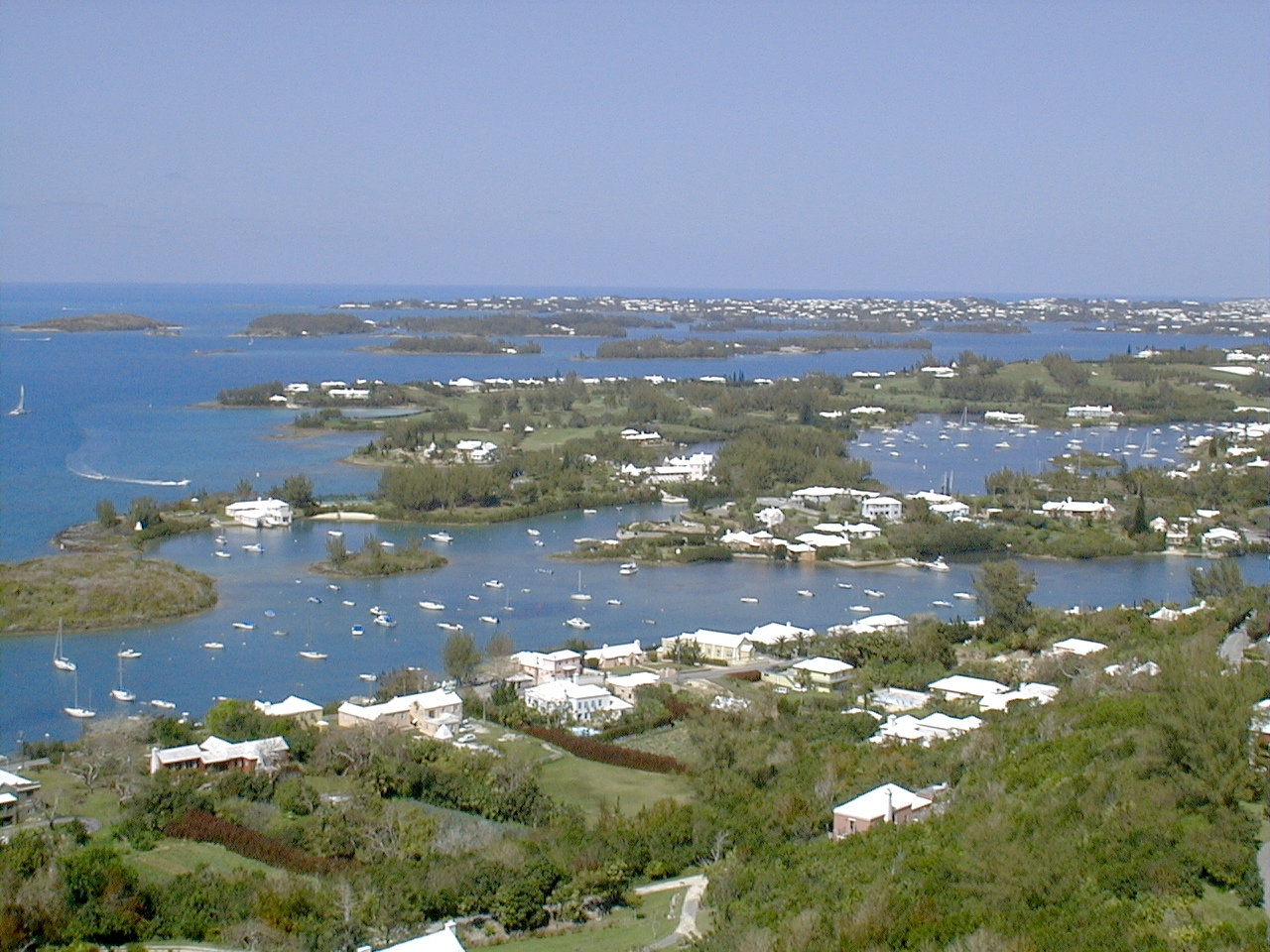 Bermuda vista from Gibbs Hill Lighthouse